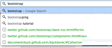Screenshot of Chrome's address bar search with irrelevant search suggestions