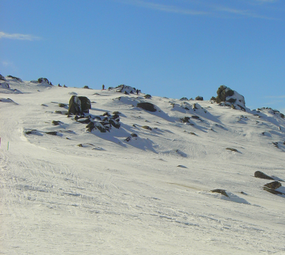 View across the top of Thredbo